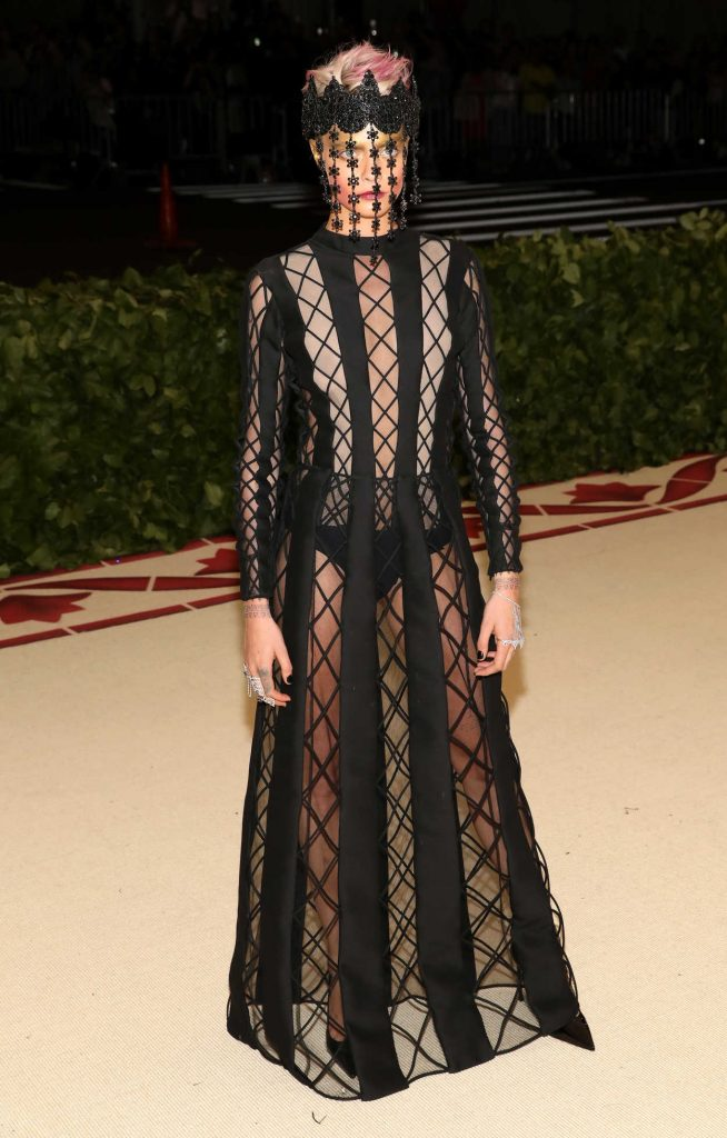 Cara Delevingne at the Heavenly Bodies: Fashion and The Catholic Imagination Costume Institute Gala in New York City 05/07/2018-1