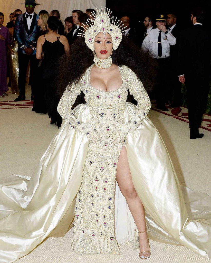 Cardi B at the Heavenly Bodies: Fashion and The Catholic Imagination Costume Institute Gala in New York City 05/07/2018-1