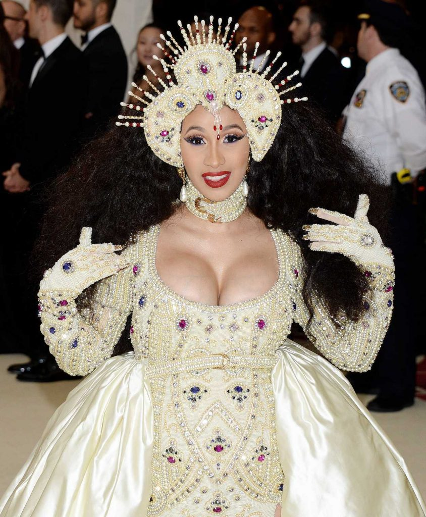 Cardi B at the Heavenly Bodies: Fashion and The Catholic Imagination Costume Institute Gala in New York City 05/07/2018-2