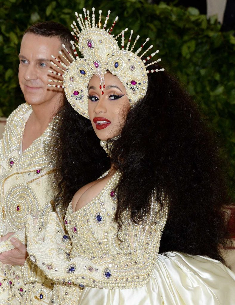 Cardi B at the Heavenly Bodies: Fashion and The Catholic Imagination Costume Institute Gala in New York City 05/07/2018-3