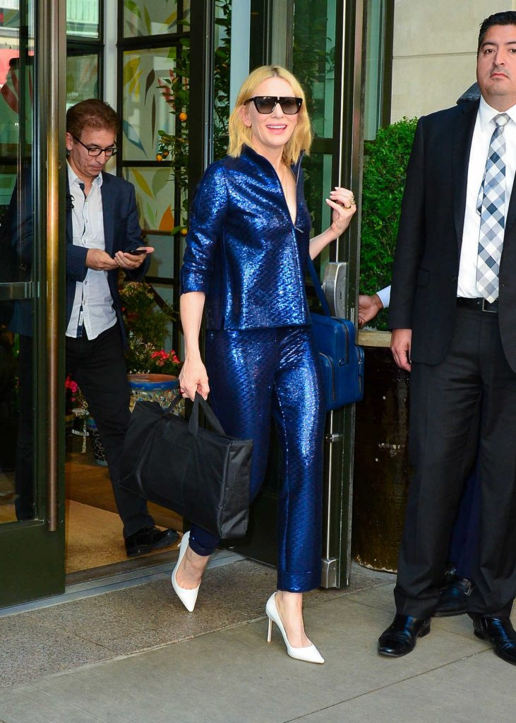 Cate Blanchett Arrives at the Oceans 8 Press Junket Event in New York 05/24/2018-1