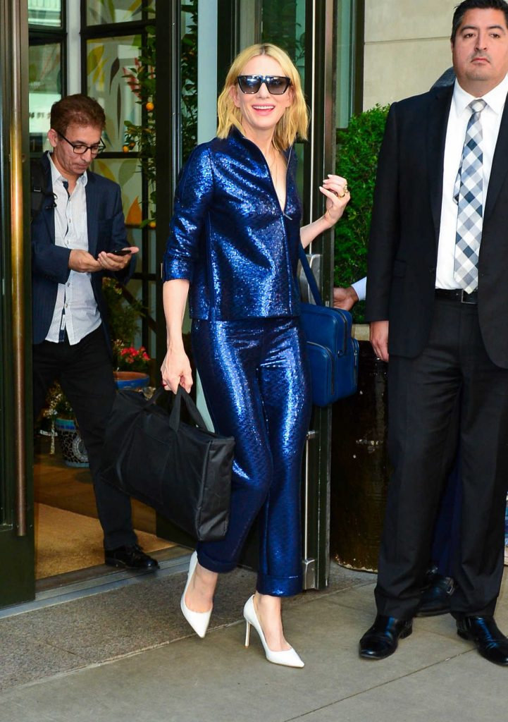 Cate Blanchett Arrives at the Oceans 8 Press Junket Event in New York 05/24/2018-2