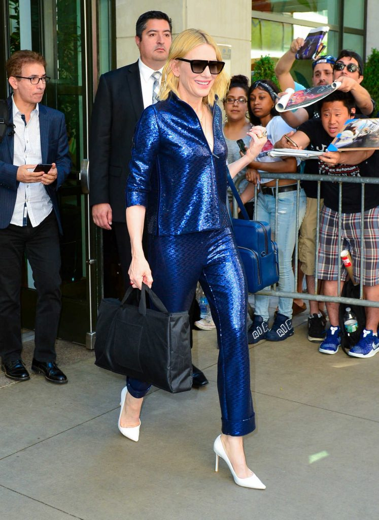 Cate Blanchett Arrives at the Oceans 8 Press Junket Event in New York 05/24/2018-3