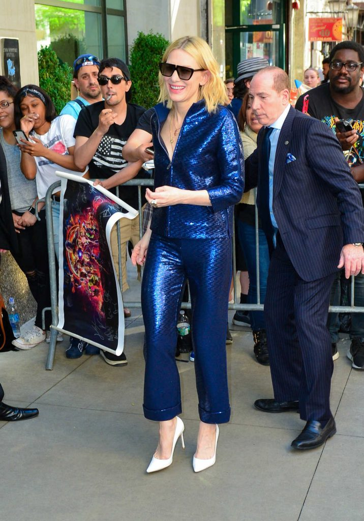 Cate Blanchett Arrives at the Oceans 8 Press Junket Event in New York 05/24/2018-4