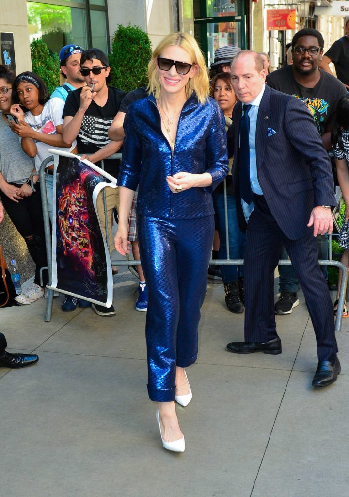 Cate Blanchett Arrives at the Oceans 8 Press Junket Event in New York 05/24/2018-5