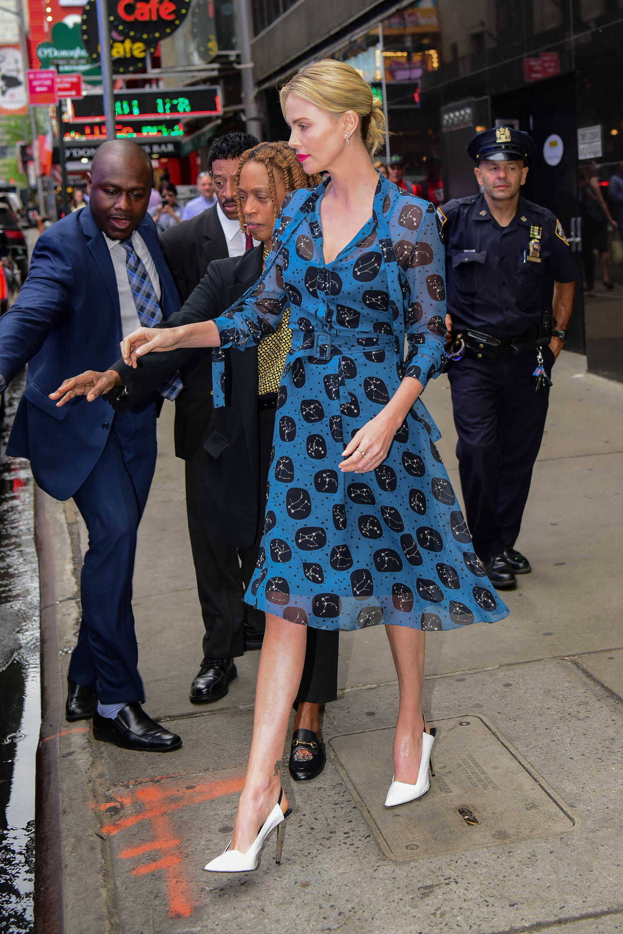 Charlize theron leaves the good morning america tv show for Tv shows to see in new york