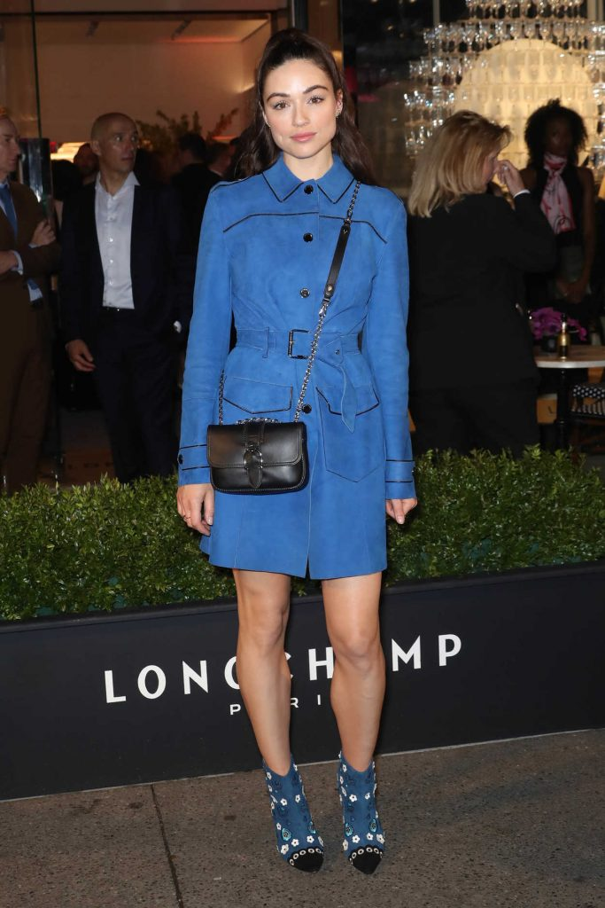 Crystal Reed at the Longchamp Fifth Avenue Store Opening in New York City 05/03/2018-2