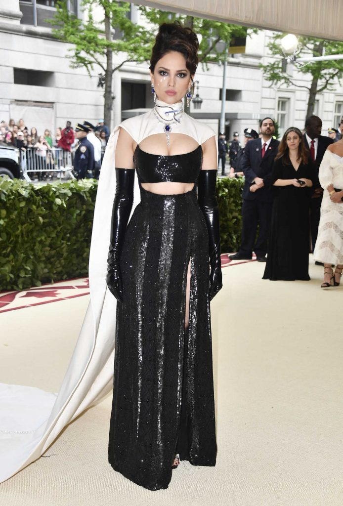 Eiza Gonzalez at the Heavenly Bodies: Fashion and The Catholic Imagination Costume Institute Gala in New York City 05/07/2018-1