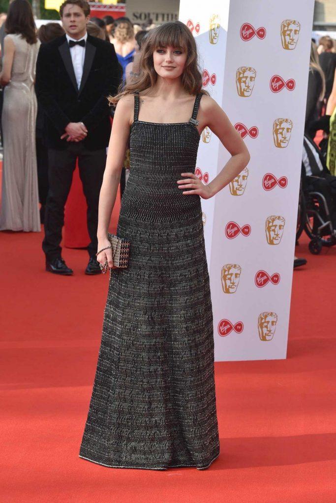 Ella Purnell at British Academy Television Awards at Royal Festival Hall in London 05/13/2018-2