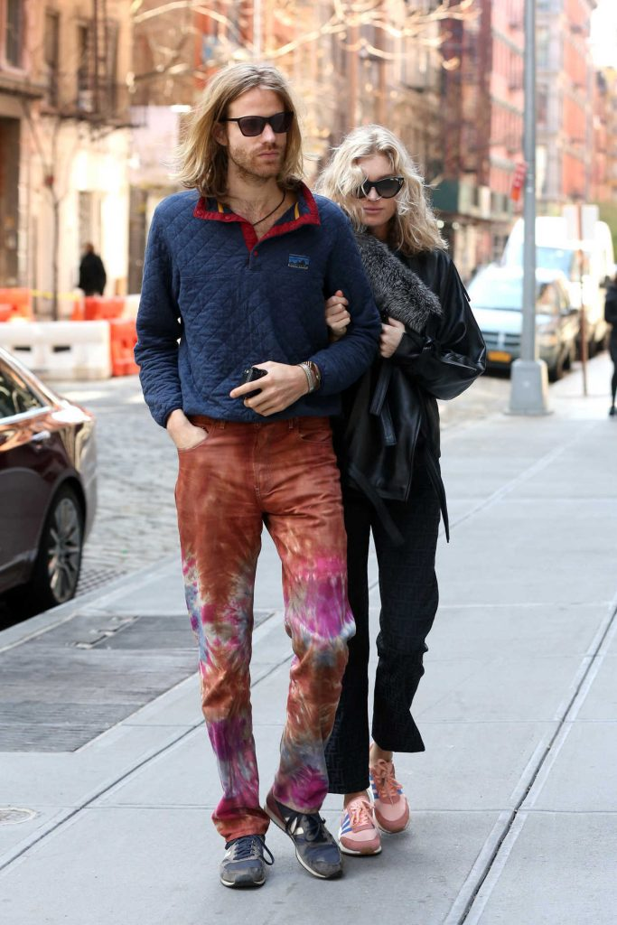 Elsa Hosk Out with Her Boyfriend to Brunch at Balthazar Restaurant in Soho, New York City 04/29/2018-1