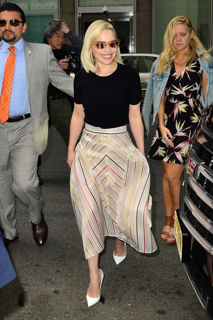 Emilia Clarke Arrives at Sirius Radio in New York 05/21/2018-2