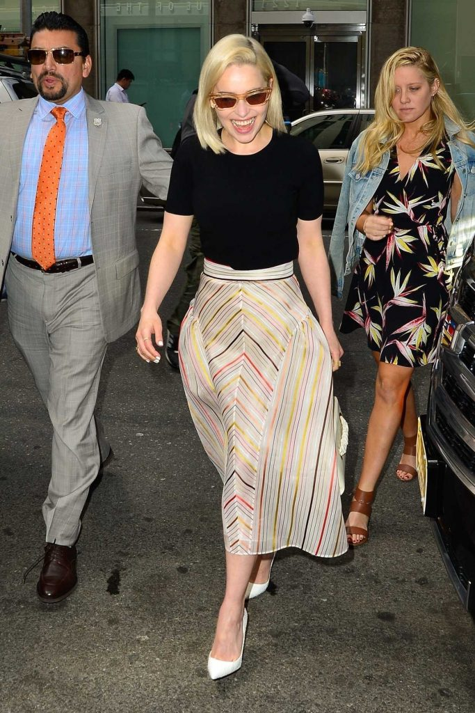 Emilia Clarke Arrives at Sirius Radio in New York 05/21/2018-3