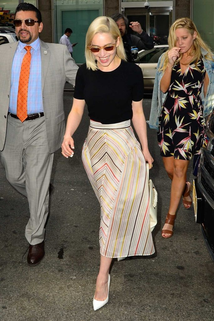 Emilia Clarke Arrives at Sirius Radio in New York 05/21/2018-4