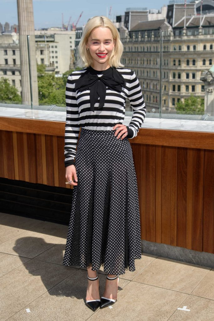 Emilia Clarke at the Solo: A Star Wars Story Photocall at the Trafalgar Hotel in London 05/18/2018-1