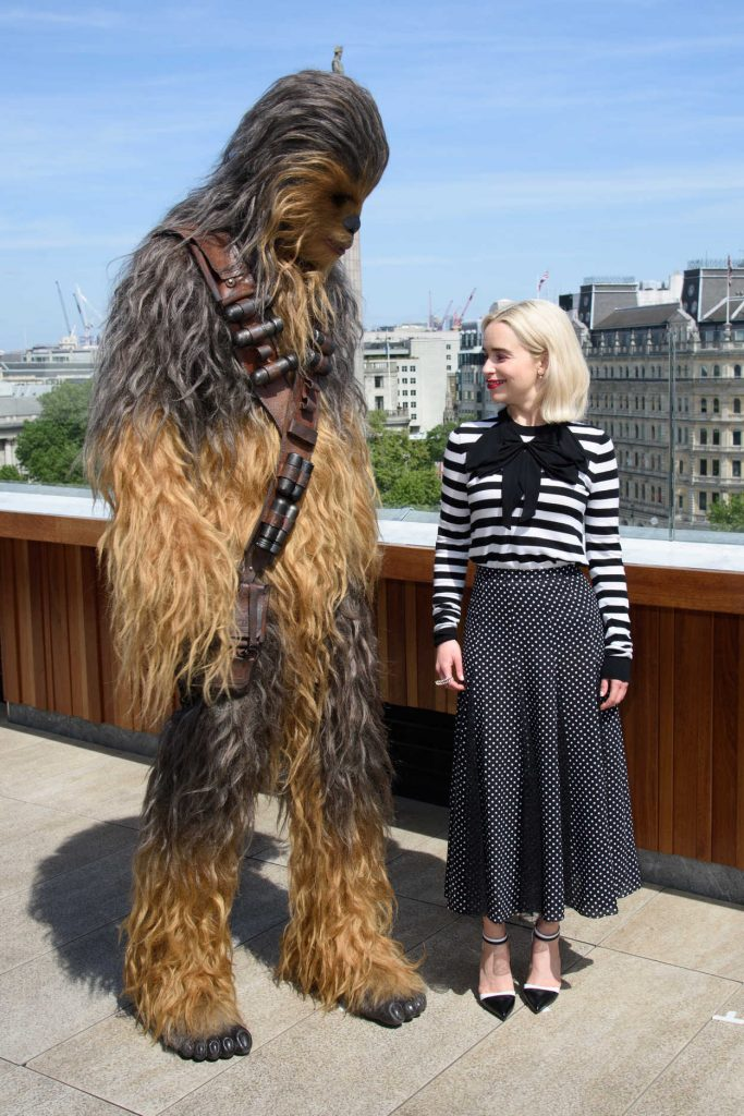 Emilia Clarke at the Solo: A Star Wars Story Photocall at the Trafalgar Hotel in London 05/18/2018-2