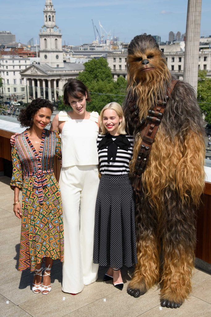 Emilia Clarke at the Solo: A Star Wars Story Photocall at the Trafalgar Hotel in London 05/18/2018-4