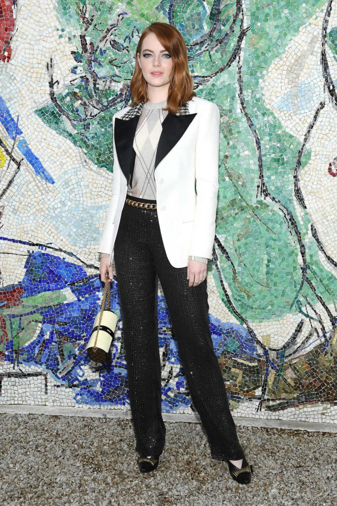 Emma Stone at 2019 Louis Vuitton Cruise Collection in Saint-Paul-De-Vence 05/28/2018 at 2019 Louis Vuitton Cruise Collection in Saint-Paul-De-Vence 05/28/2018-1