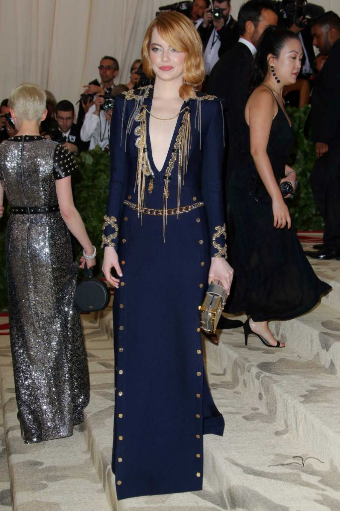 Emma Stone at the Heavenly Bodies: Fashion and The Catholic Imagination Costume Institute Gala in New York City 05/07/2018-1
