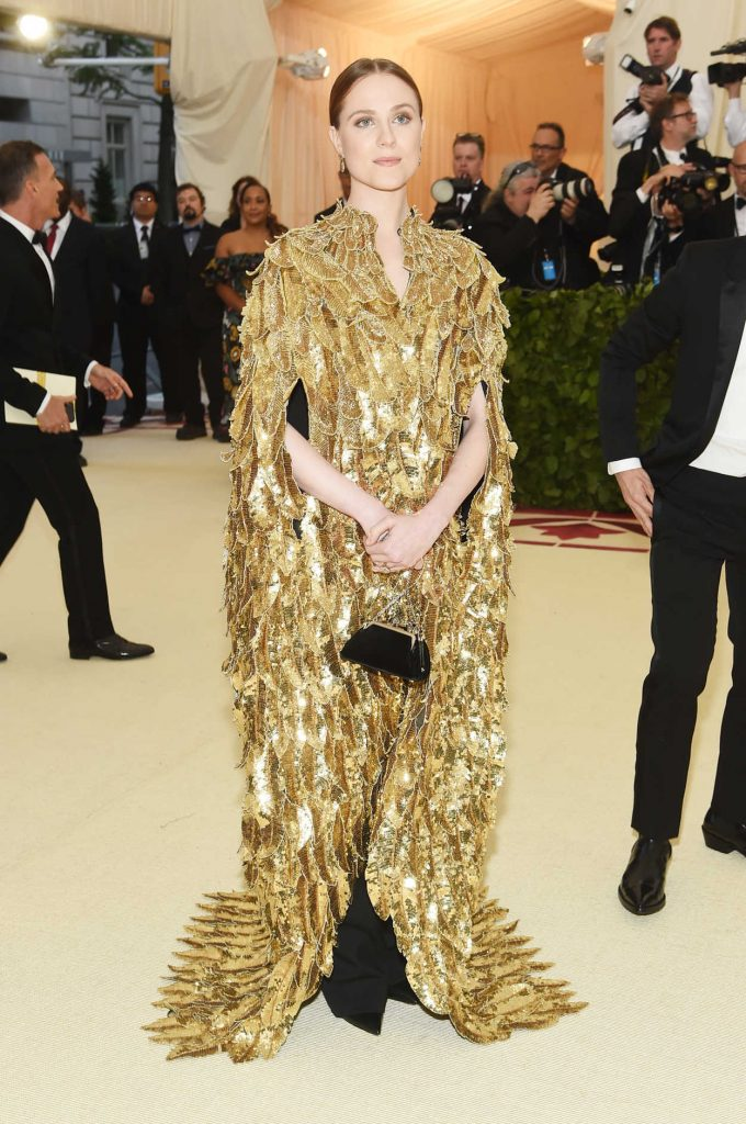 Evan Rachel Wood at the Heavenly Bodies: Fashion and The Catholic Imagination Costume Institute Gala in New York City 05/07/2018-1