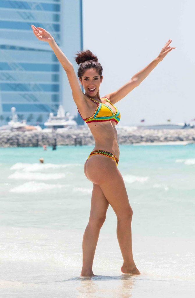 Farrah Abraham in Bikini at the Beach in Dubai 05/25/2018-2
