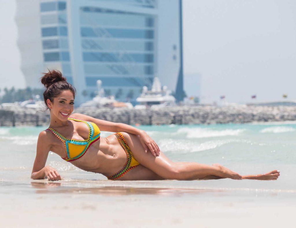 Farrah Abraham in Bikini at the Beach in Dubai 05/25/2018-3