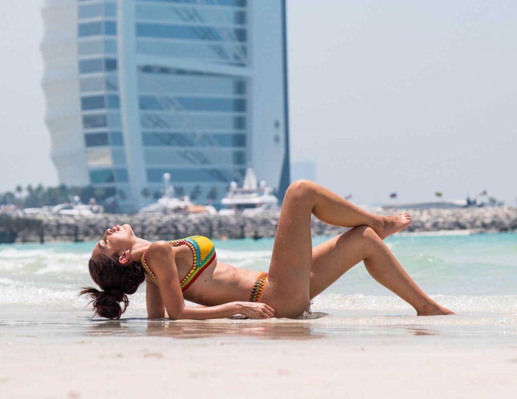 Farrah Abraham in Bikini at the Beach in Dubai 05/25/2018-4