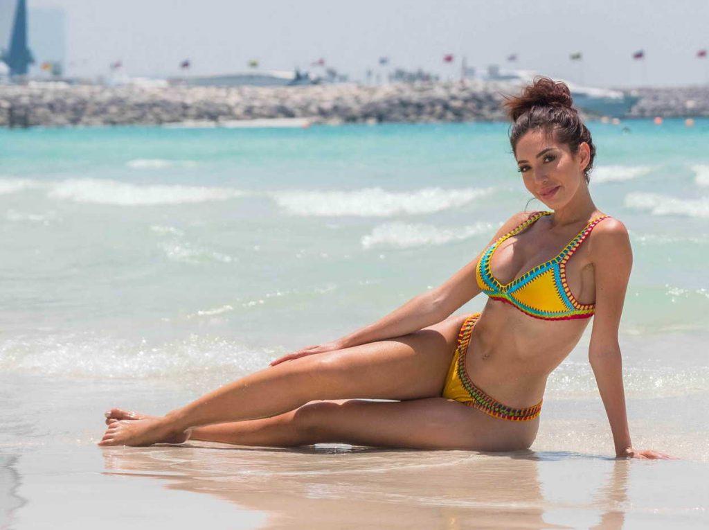 Farrah Abraham in Bikini at the Beach in Dubai 05/25/2018-5