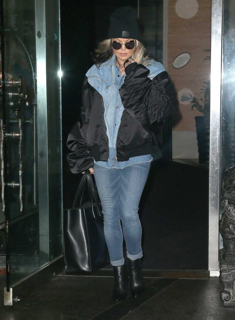 Fergie Wears All Denim as She Leaves Her Hotel in New York City 05/16/2018-1