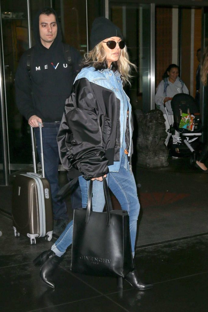 Fergie Wears All Denim as She Leaves Her Hotel in New York City 05/16/2018-2