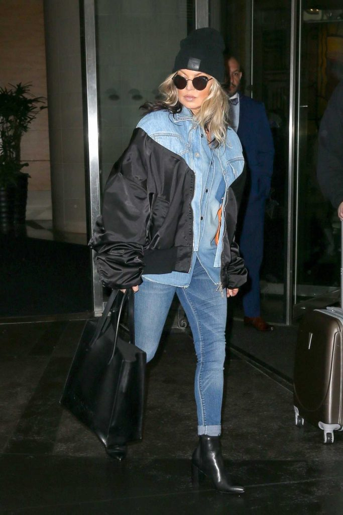 Fergie Wears All Denim as She Leaves Her Hotel in New York City 05/16/2018-3