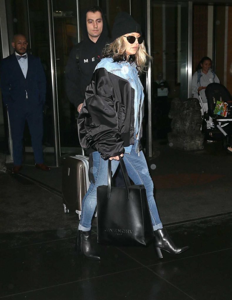 Fergie Wears All Denim as She Leaves Her Hotel in New York City 05/16/2018-4