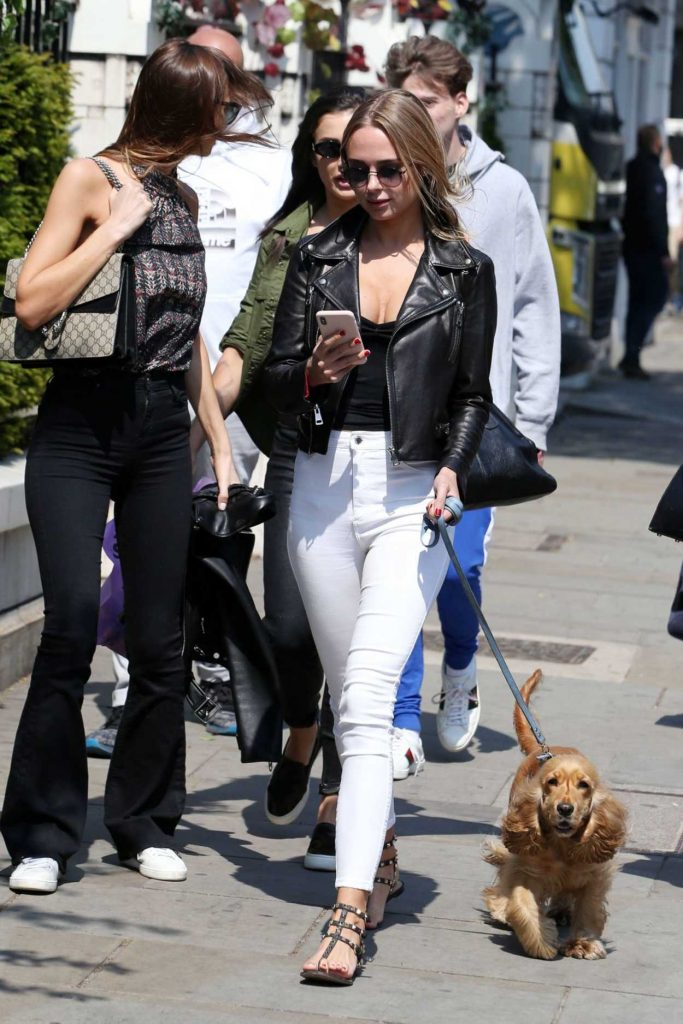 Kimberley Garner Walks Her Dog Out in London 05/23/2018-1