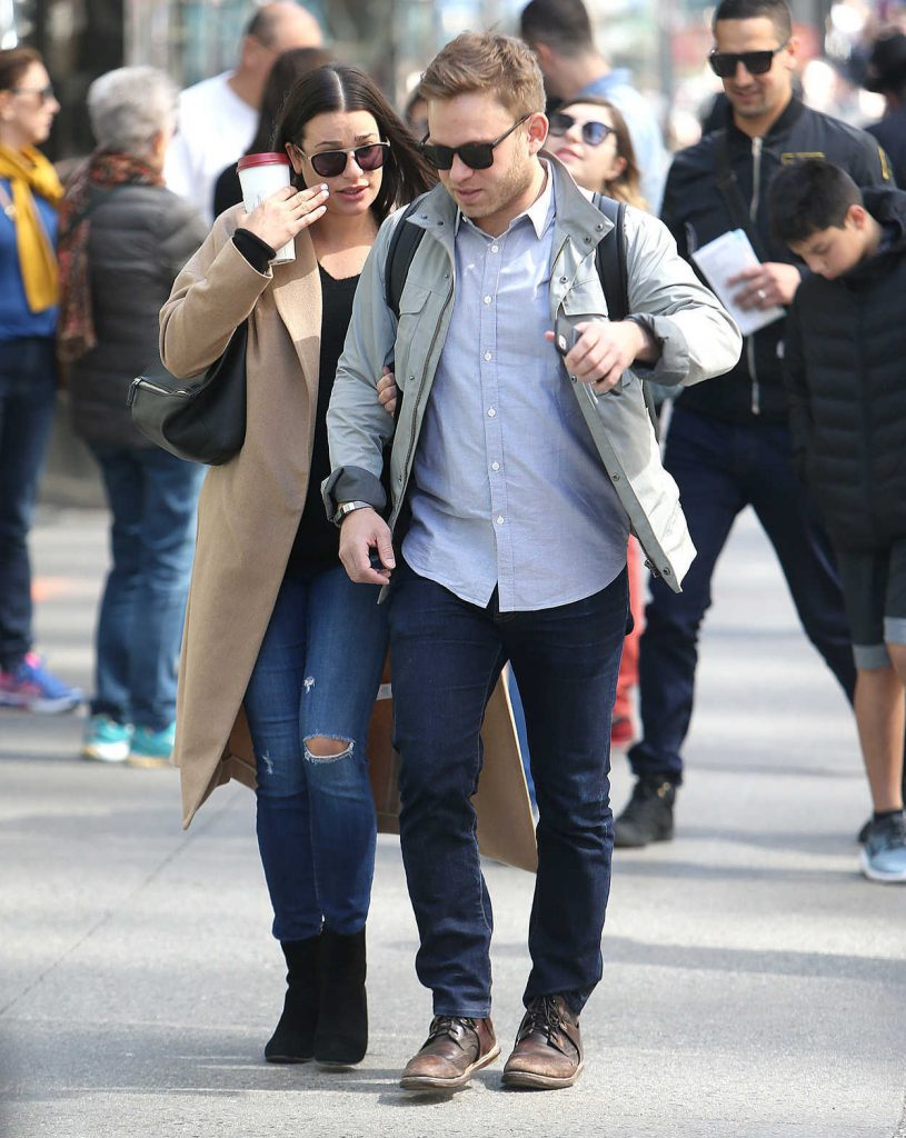 Lea Michele Was Seen Out with Her Fiancee in New York City 05/01/2018-2