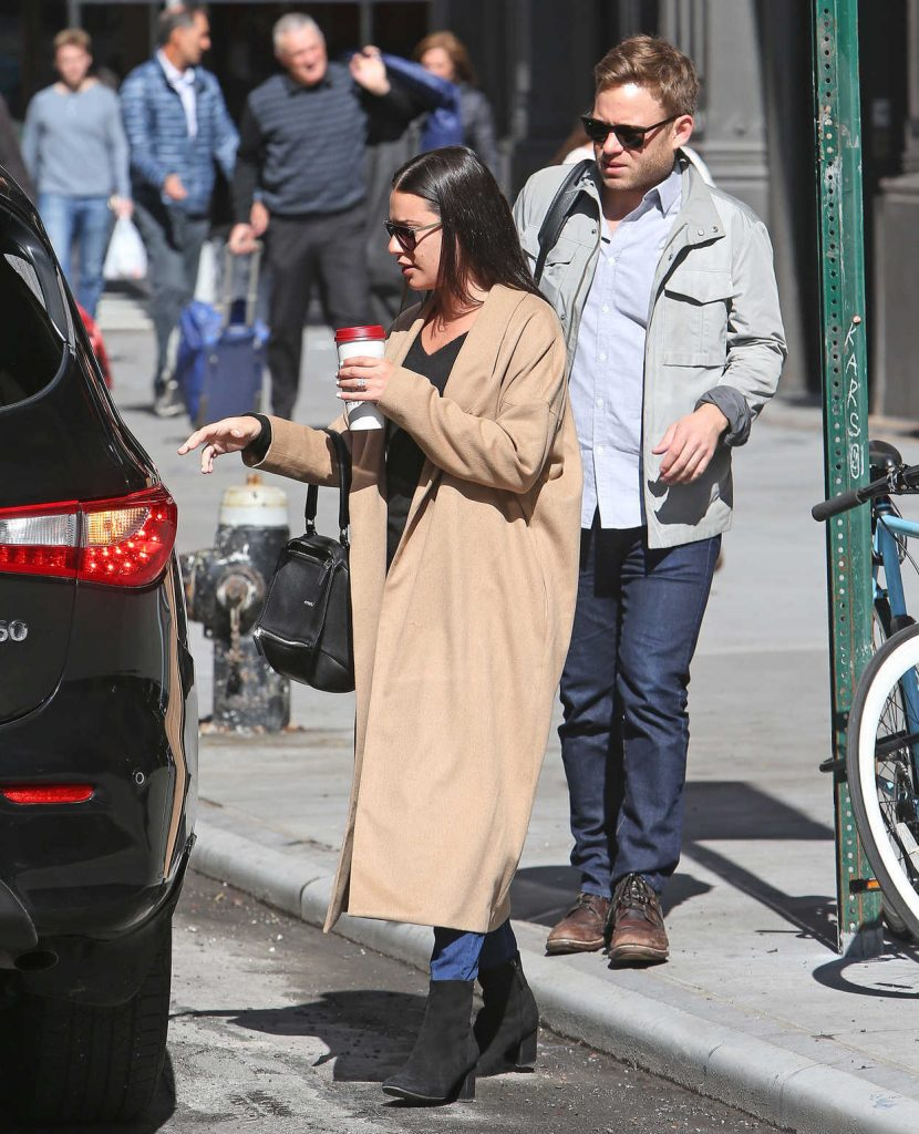 Lea Michele Was Seen Out with Her Fiancee in New York City 05/01/2018-5