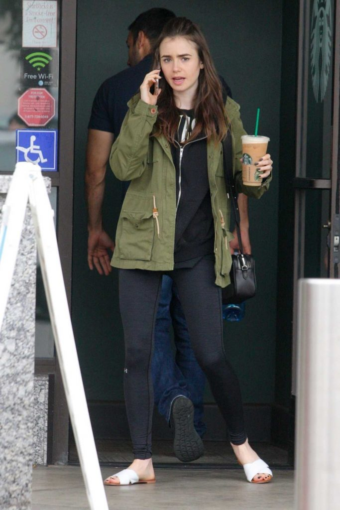 Lily Collins Stops by Starbucks in West Hollywood 05/19/2018-1