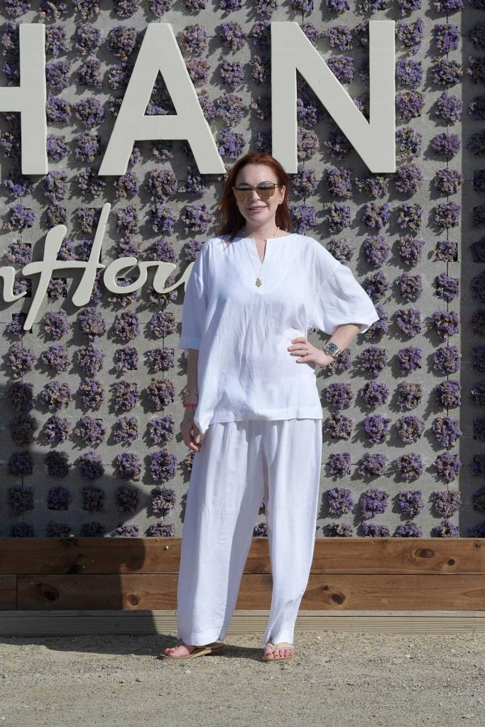 Lindsay Lohan at the Lohan Beach House Opening in Mykonos 05/28/2018-1