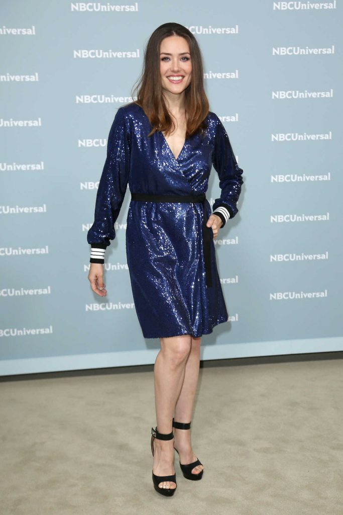 Megan Boone at NBCUniversal Upfront Presentation in New York City 05/14/2018-2
