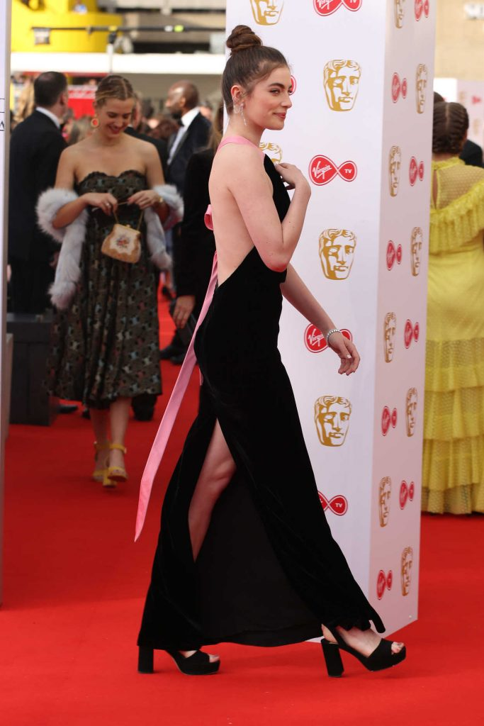 Millie Brady at British Academy Television Awards at Royal Festival Hall in London 05/13/2018-4