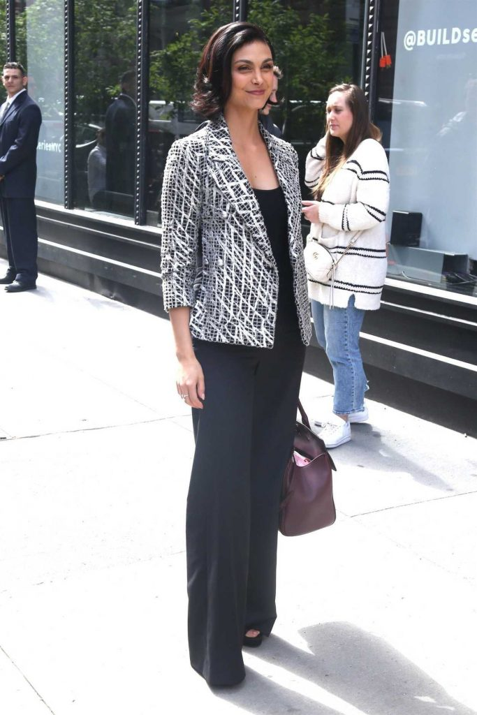 Morena Baccarin Arrives at AOL Build Studios in New York City 05/14/2018-1
