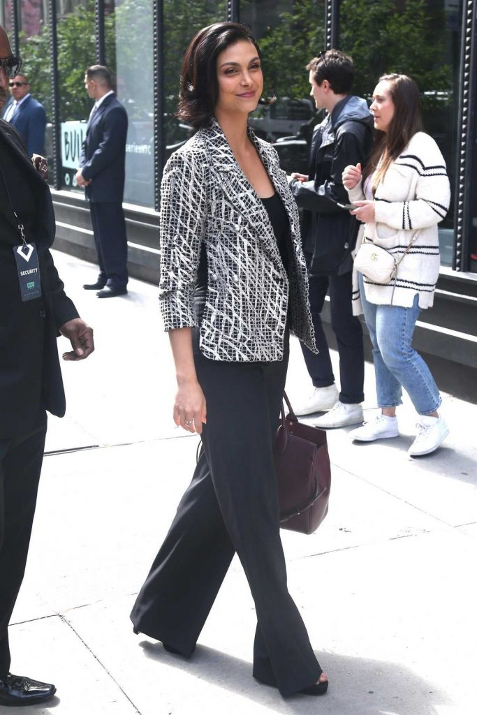 Morena Baccarin Arrives at AOL Build Studios in New York City 05/14/2018-2