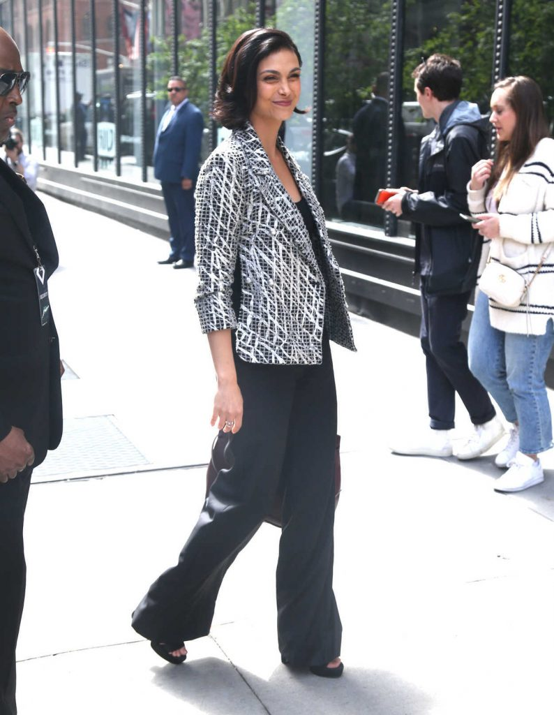 Morena Baccarin Arrives at AOL Build Studios in New York City 05/14/2018-3