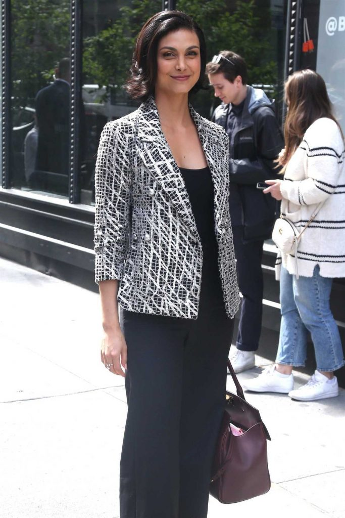 Morena Baccarin Arrives at AOL Build Studios in New York City 05/14/2018-4