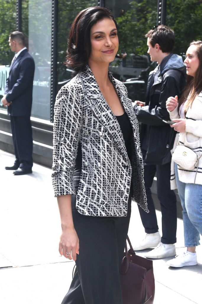Morena Baccarin Arrives at AOL Build Studios in New York City 05/14/2018-5
