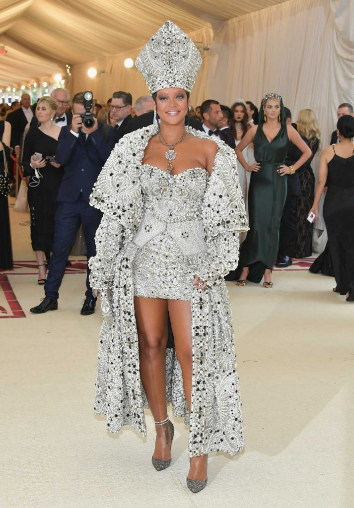 Rihanna at 2018 Heavenly Bodies: Fashion and The Catholic Imagination Costume Institute Gala in New York City 05/07/2018-1
