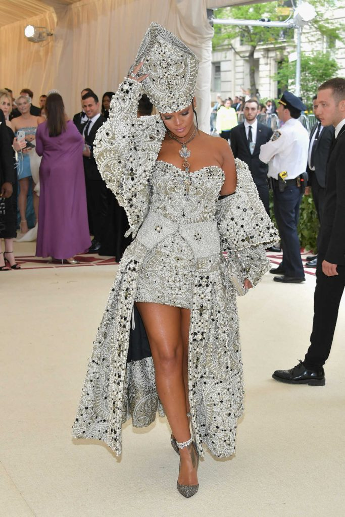 Rihanna at 2018 Heavenly Bodies: Fashion and The Catholic Imagination Costume Institute Gala in New York City 05/07/2018-2