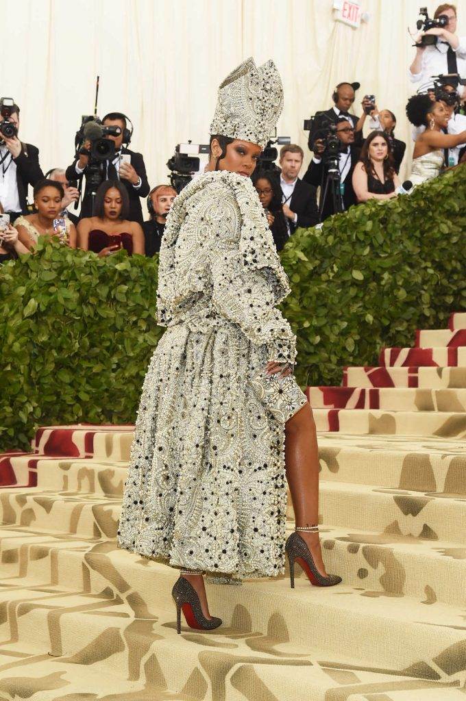 Rihanna at 2018 Heavenly Bodies: Fashion and The Catholic Imagination Costume Institute Gala in New York City 05/07/2018-3