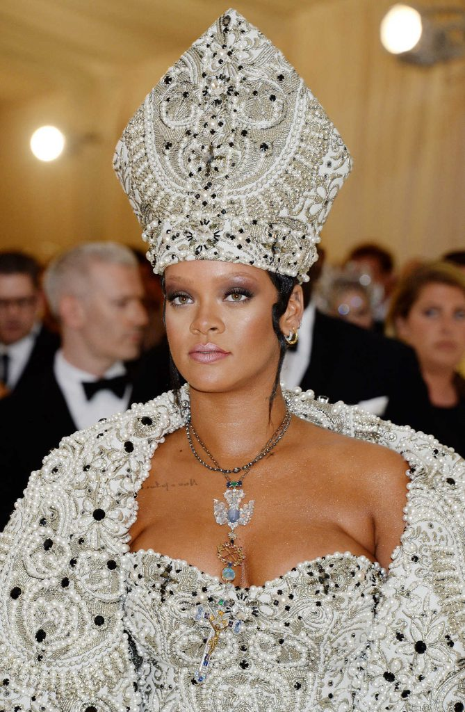 Rihanna at 2018 Heavenly Bodies: Fashion and The Catholic Imagination Costume Institute Gala in New York City 05/07/2018-5