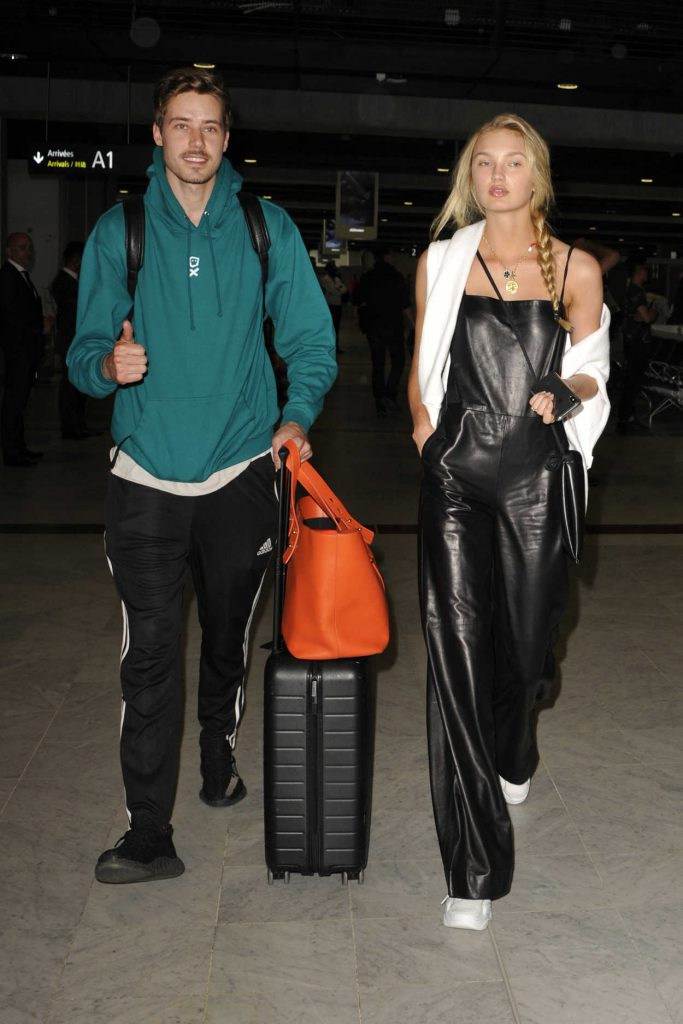 Romee Strijd Arrives with Her Boyfriend at Nice Airport in Nice 05/06/2018-2