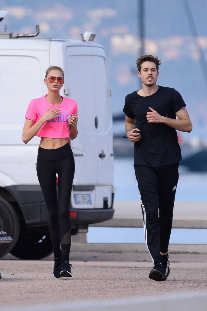 Romee Strijd Out for a Morning Run with Her Boyfriend in Cannes 05/08/2018-4
