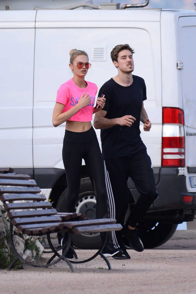 Romee Strijd Out for a Morning Run with Her Boyfriend in Cannes 05/08/2018-5